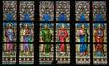 Stained Glass - Roman Catholic Saints Royalty Free Stock Photo