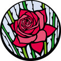 Stained-glass rose. Royalty Free Stock Photos