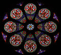 Stained glass rose window a beautiful Royalty Free Stock Photo