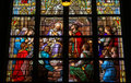 Stained Glass of The Sacrament of Confession in Den Bosch Cathed Royalty Free Stock Photo