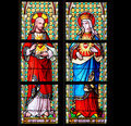 Stained Glass - Sacred Heart of Jesus and Most Pure Heart of Mar