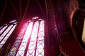 Stained glass in Saint Chapelle Royalty Free Stock Photo