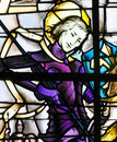 Stained Glass - Saint George and the Dragon Royalty Free Stock Photo