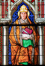 Stained Glass - Saint Gregorius Royalty Free Stock Photo