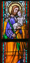 Stained Glass - Saint Joseph Royalty Free Stock Photo