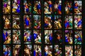 stock image of  Stained Glass Saints aligned.