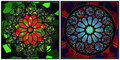 Stained glass set Royalty Free Stock Photography
