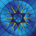 Stained Glass Star Stock Photography