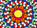 Stained glass sun Stock Image