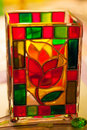 Stained Glass Vase. Royalty Free Stock Photo