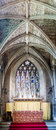 Stained Glass Window Altar Ceiling Royalty Free Stock Photo
