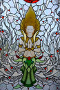 Stained glass window of angel . Royalty Free Stock Photos