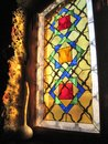 A stained-glass window