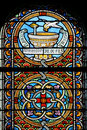 Stained glass window (Brittany,France) Royalty Free Stock Image