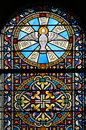 Stained glass window (Brittany,France) Stock Photography