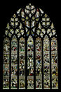 Stained glass window in Chester Cathedral, UK Royalty Free Stock Photo