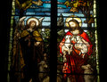 Stained glass window of christ Royalty Free Stock Image