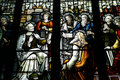 Stained glass window in a church Royalty Free Stock Photo