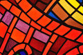 Stained glass window - church Royalty Free Stock Photo