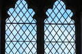 Stained glass window in church, Bibury England Royalty Free Stock Photo