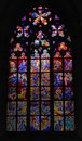 Stained glass window in the church Royalty Free Stock Photo