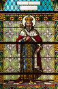 Stained glass window from a church of the north of serbia Royalty Free Stock Photography