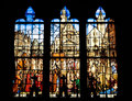Stained glass window of the church Saint Etienne Royalty Free Stock Photo