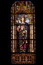 Stained glass window in the church of san jeronimo el real in madrid Stock Photo