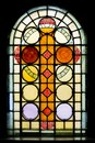 Stained glass window in church Royalty Free Stock Photo