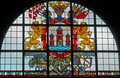 Stained-glass window with coat of arms Royalty Free Stock Photos