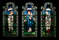 Stained glass window collection of from gloucester cathedral england united kingdom Stock Photos