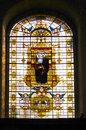 Stained glass window in a college chapel Royalty Free Stock Photos