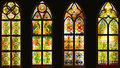 Stained glass window,colorful glass window, Royalty Free Stock Photo