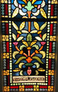 Stained glass window colors Royalty Free Stock Photos