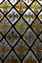 Stained glass window detail Stock Image