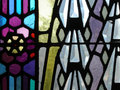 Stained Glass Window detail Royalty Free Stock Photo