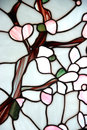 Stained glass window with floral pattern Stock Photography