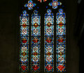 Stained glass window gothic cathedral of saint gatien tours france built between and Royalty Free Stock Photos
