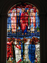 Stained glass window Jesus Christ and his Disciple Royalty Free Stock Photo