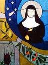Stained Glass Window, Nun Figure