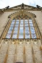 Stained glass window of an old european church Royalty Free Stock Photo