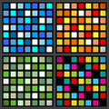 Stained glass window patterns set of simple colorful Royalty Free Stock Photo