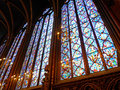Stained glass window in St. Chapelle