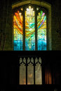 Stained glass window in St Michaels church, Winwick, UK Royalty Free Stock Photo
