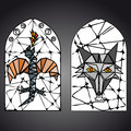 Stained glass window vector this is file of eps format Royalty Free Stock Photo