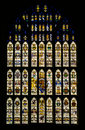Stained glass window westminster hall london the in st stephen s porch a memorial to staff and members of both houses of Stock Photography