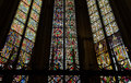 Stained glass windows in the cologne cathedral Royalty Free Stock Photos