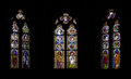 Stained glass windows in a german church Royalty Free Stock Photography