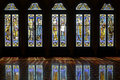 Stained-glass windows with reflections Royalty Free Stock Photo