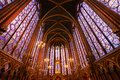Stained glass windows of Saint Chapelle Royalty Free Stock Photo